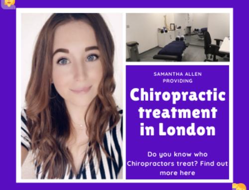 Samantha Allen providing Chiropractic treatment in London